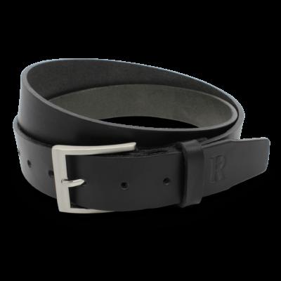 Ledergürtel Jeansgürtel Handgemacht Handgefertigt Herrengürtel Leder Schwarz 3,5cm
